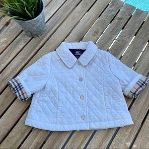 Vest jacket 3 / 6 months Burberry white fleeced
